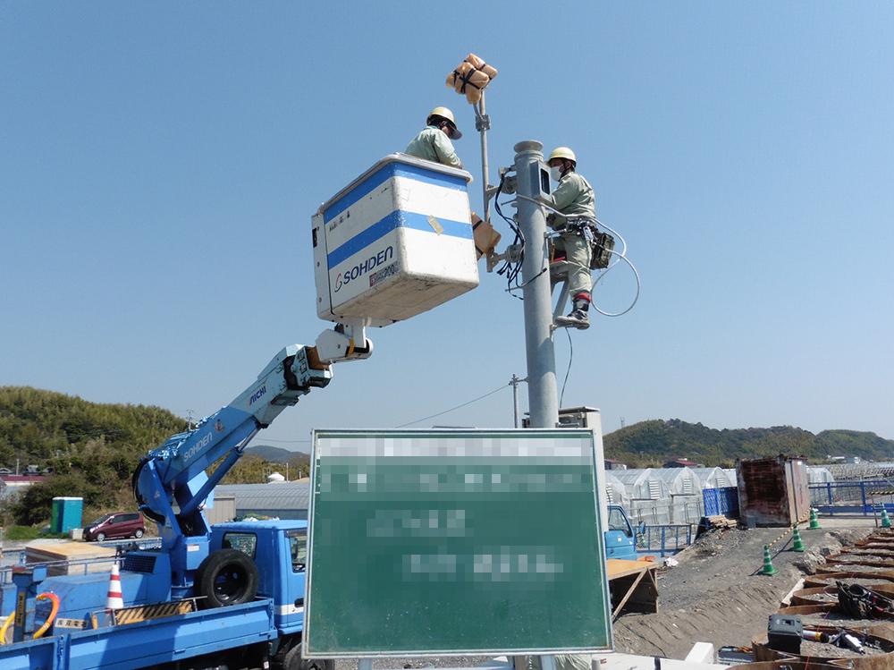 CCTV(カメラ)工事1